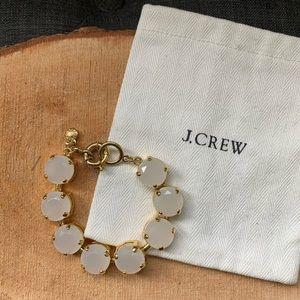 J. Crew translucent colour stone bracelet